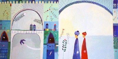 Illustration originale de Aurélia Fronty - Le roi Salomon | Oeuvres | Galerie Robillard