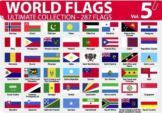 all country flags with names free download