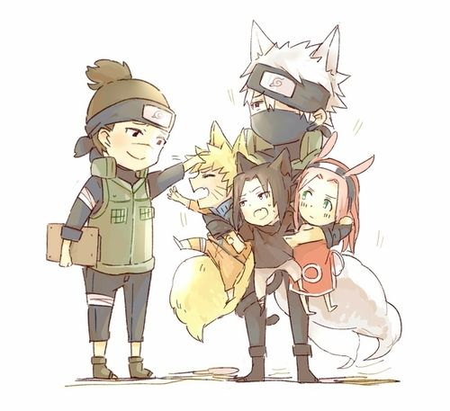 Naruto ~~ Iruka was particularly patient when Kakashi brought home an armload of trouble.