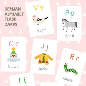 Druckbare ABC-Karten