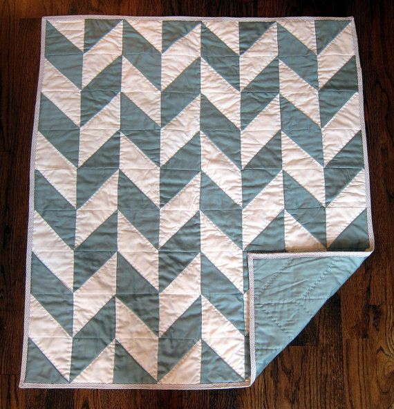 Modern Herringbone Baby Quilt