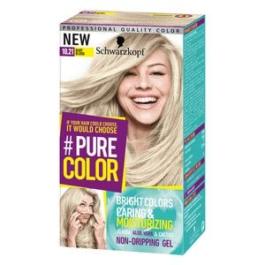 Schwarzkopf  PURE COLOR 10.21 Baby Blond Permanent Gel Coloration ... f996ccfccd