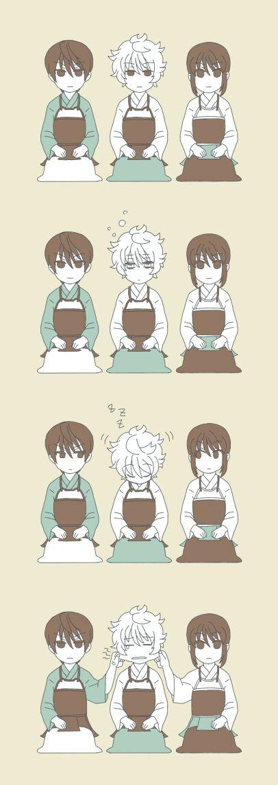 Pixiv Id 448474, Gin Tama, Takasugi Shinsuke, Sakata Gintoki, Katsura Kotaro, Joui