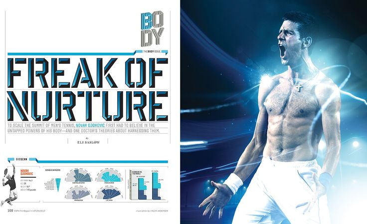 ESPN Magazine 'Novak Djokovic' Body Issue - NOPATTERN / Chuck Anderson: Art, design, & creative direction