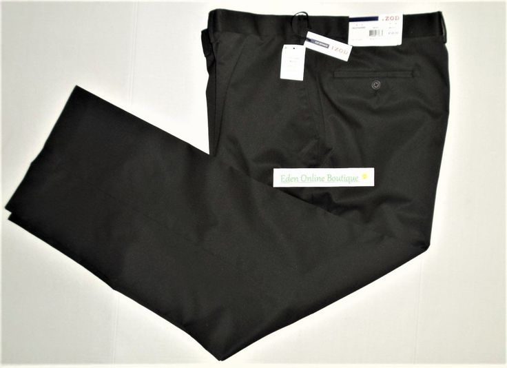Just in!  IZOD Men's Dress ... Check it out here: http://eden-online-boutique.com/products/izod-mens-dress-pants-relaxed-fit-black-size-42w-x-30l-dry-clean?utm_campaign=social_autopilot&utm_source=pin&utm_medium=pin