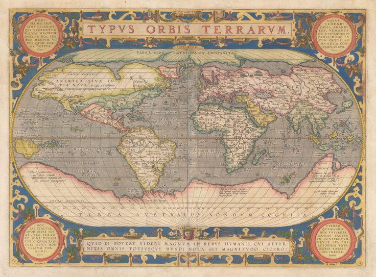 1587 Typus Orbis Terrarum