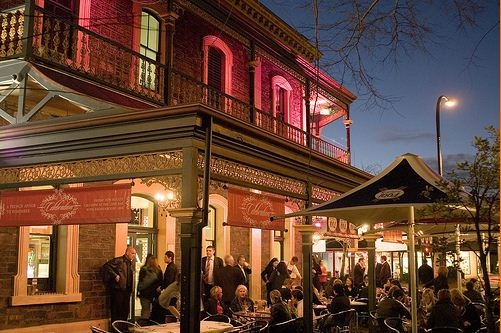 SA - North Adelaide- The Lion Hotel is a favourite watering hole for Adelaideans. Melbourne Street, North Adelaide.