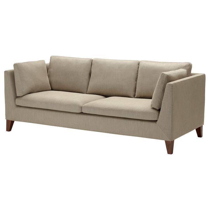 "STOCKHOLM Sofa - Gammelbo light brown - IKEA $899. Width: 83 1/8"" Depth: 34 5/8"" Height: 31 1/2"" Armrest height: 28 3/8"" Seat width: 62 1/4"" Seat depth: 23 1/4"" Seat height: 16 7/8"""