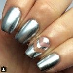 47 best cutout nail designs images on pinterest make up blue silver glamchrome cut out nail design prinsesfo Gallery