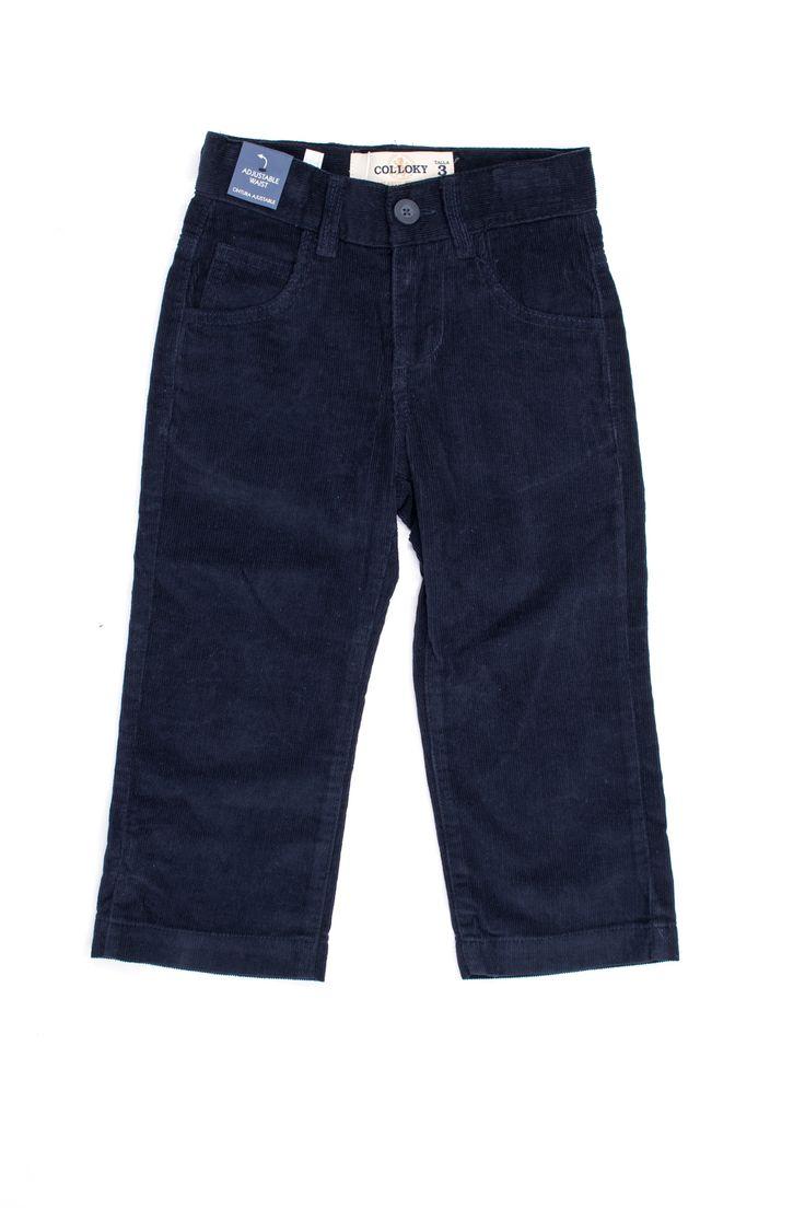 Pantalón urbano clásico corduroy azul