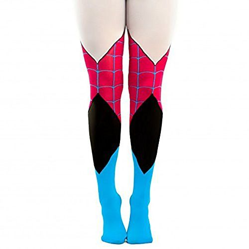 Marvel Comics Spider-Gwen Suit Up Cosplay Tights, features costume inspired designs of your favorite Superhero. - Officially Licensed Marvel Comics Product - Authentic Spider-Gwen Merchandise - Design