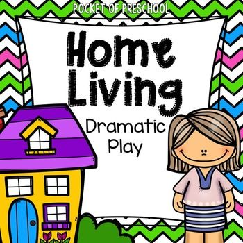 Home Living Dramatic Play Center For Preschool Pre K And