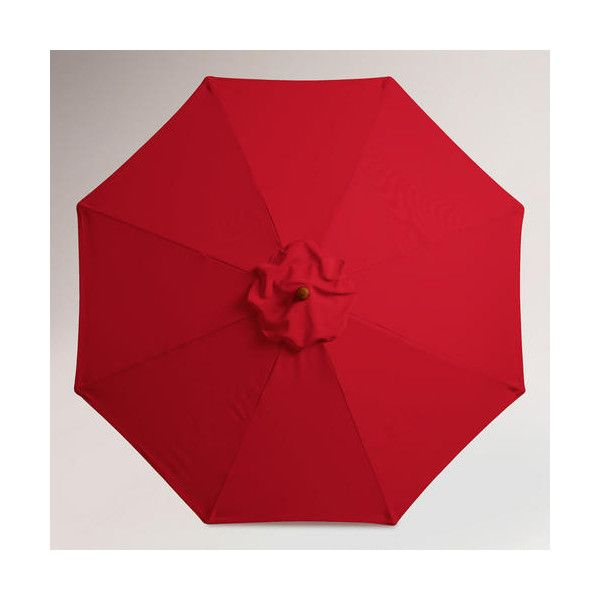 Cost Plus World Market Barbados Cherry 9 Ft Umbrella Canopy (66 CAD) ❤  Liked On Polyvore Featuring Home, Outdoors, Patio Umbrellas, Red, Outdoor  Patio ...