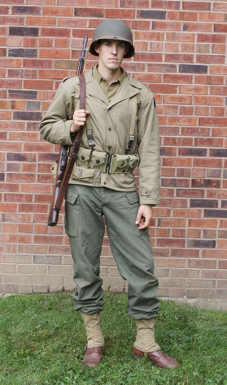 Day reenactment ww ii pictures pinterest - Complete Outfit As Worn By Us Army Troops During Wwii Tunisia Anzio D Day Normandy And In Battle Of The Bulge