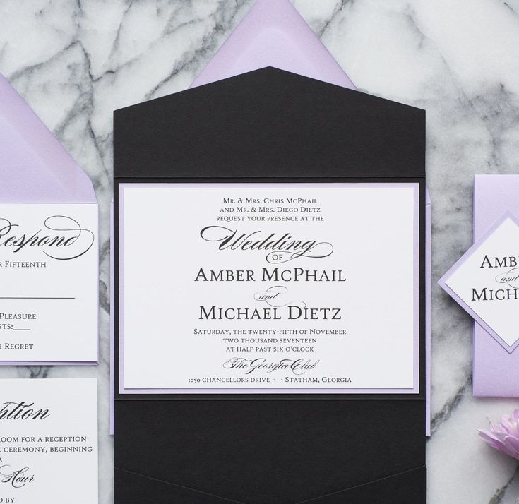 purple white silver wedding invitations%0A Amber  Lavender Wedding InvitationsFormal