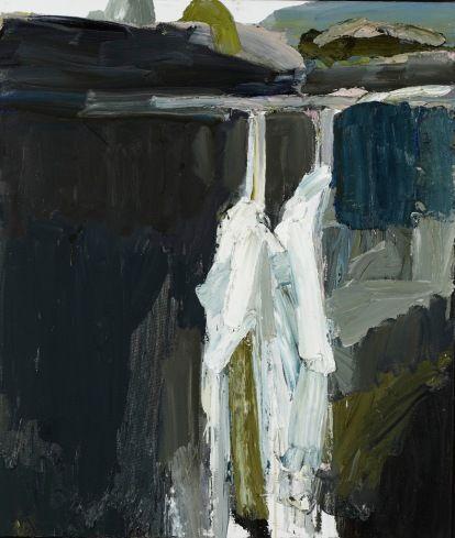 'Fall No. 7' by Australian artist Guy Maestri (b.1974). Oil on linen, 107 x 82 cm. via The Cat Street Gallery