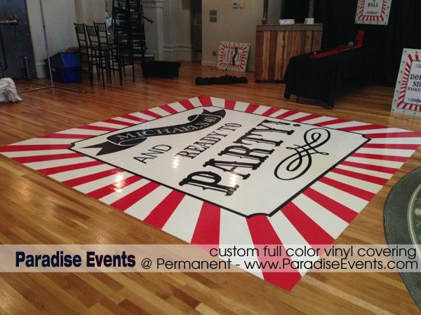 vinyl covering for dance floor stage Vancouver Paradise Events Permanent Michael Bubble's Birthday Party