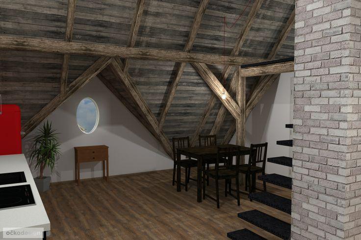....stůl je osvícen svěšenou žárovkou na textilním kabelu v porcelánové objímce. www.ockodesign.cz