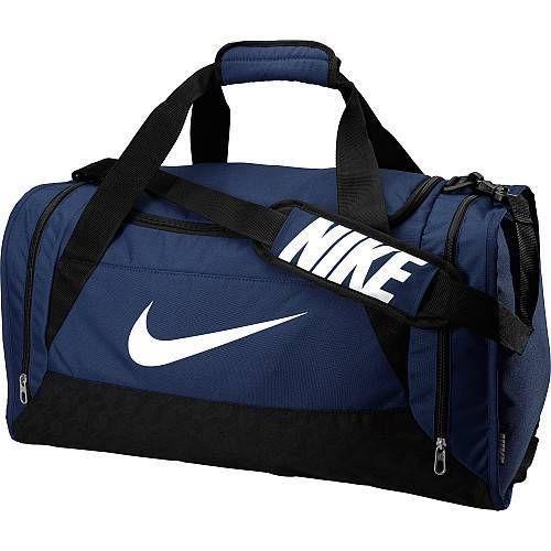 Nike Duffel Bag Brasilia 6 Navy Blue Black Medium Bag Gym Duffle Black Men Women #Nike #Duffle #Gym #Bag #OrlandoTrend