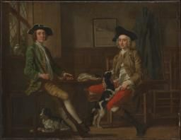 Francis Hayman 'Thomas Nuthall and his Friend Hambleton Custance', c.1748