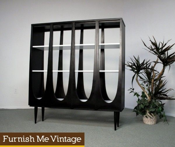 Custom Made Mid Century Style Broyhill Brasilia Room Divider Bookcase By  Eames Revival