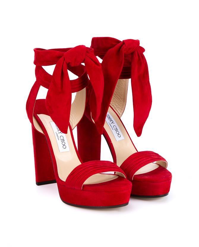 JIMMY CHOO Kaytrin 120 Suede Platform Sandals