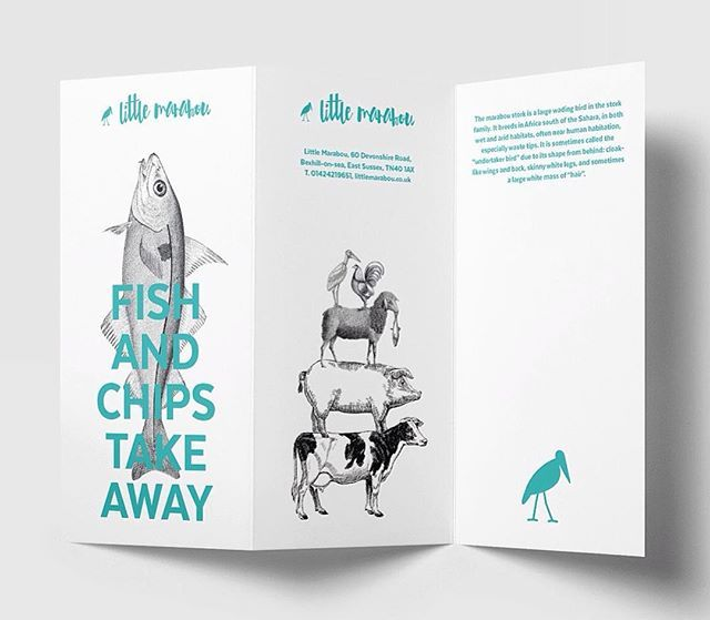 Menu design for Little Marabou — a fish and chips restaurant in Bexhill on Sea, United Kingdom. #logo #logos #symbol #mark #branding #brandsymbol #minimal #minimalism #logodesigner #logosai #graphicgang #logoinspirations #logoinspiration #thedesigntip #designinspiration #graphicdesign #graphicdesigner #littlemarabou #marabou #animallogo #bird #design #designstudio #restaurant #restaurantlogo #fishandchips #corporatedesign