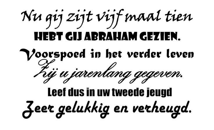 Een Korte Rijm Gedicht Voor Op De Abraham 50 Years