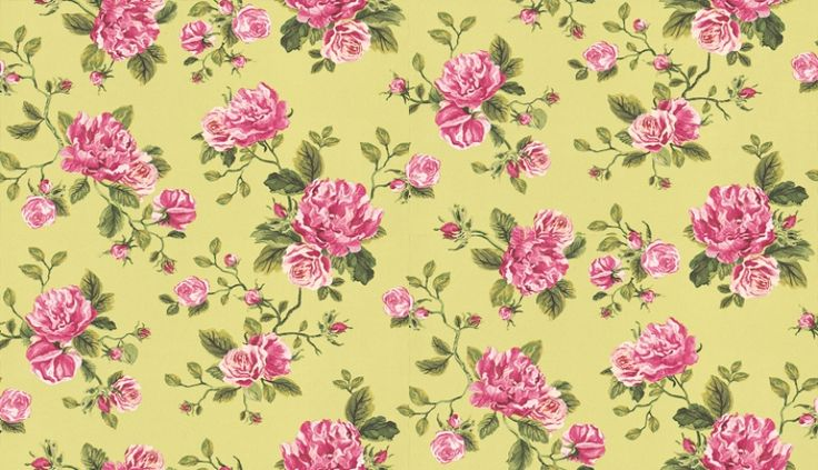 Un Bisou (310005) - Eijffinger Wallpapers - A stunning floral trail in a beautiful painted effect - showing in pink and green on a lime green background. other colour ways available. Please request a sample for true colour match. Paste-the-wall product.