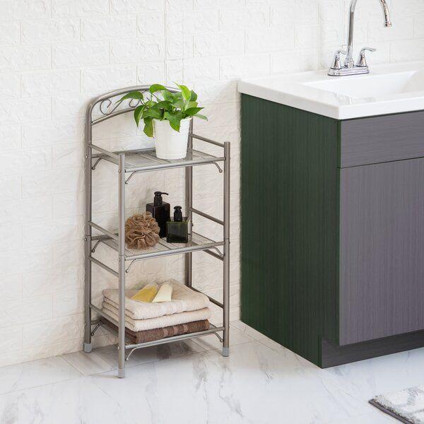Jabouille 15 W X 31 4 H Bathroom Shelf In 2020 Bathroom Shelves Metal Bathroom Shelf Bathroom Essentials