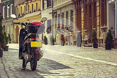 Scooter Parked On Alley - Download From Over 28 Million High Quality Stock Photos, Images, Vectors. Sign up for FREE today. Image: 44457386