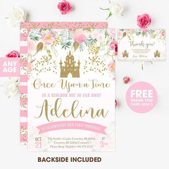 Prinzessin Einladung Einladung Prinzessin Geburtstag Pink Und Gold