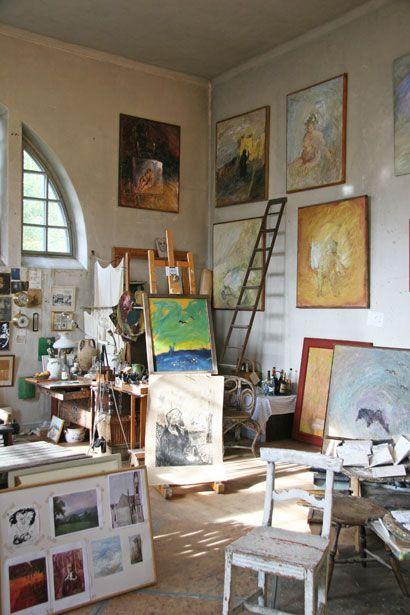 Evert Lundquist´s studio.
