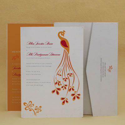 Turmeric Peacock: Wedding Invitation Wedding Invitation Cards , E-Card Designs #WeddingCard #WeddingInvite #WeddingInvitations #WaterColor #IndianWedding #paisleys #ChristianWedding #YouAreInvited #Foil #Gold #Bling #Blue #Violet #RSVP #SaveTheDate