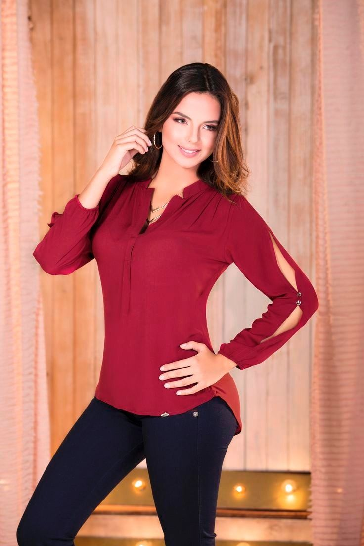 blusas elegante roja - Buscar con Google