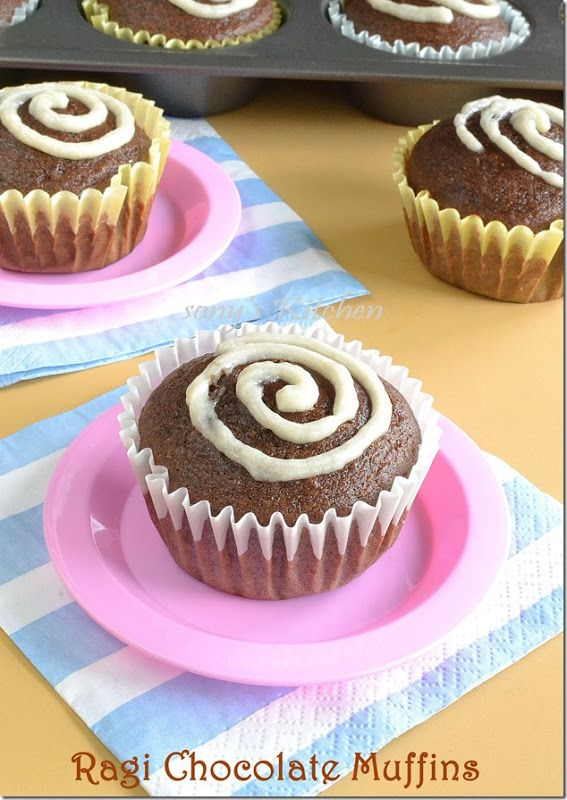 Ragi Chocolate Muffins – Eggless Butterless Whole Wheat Muffins