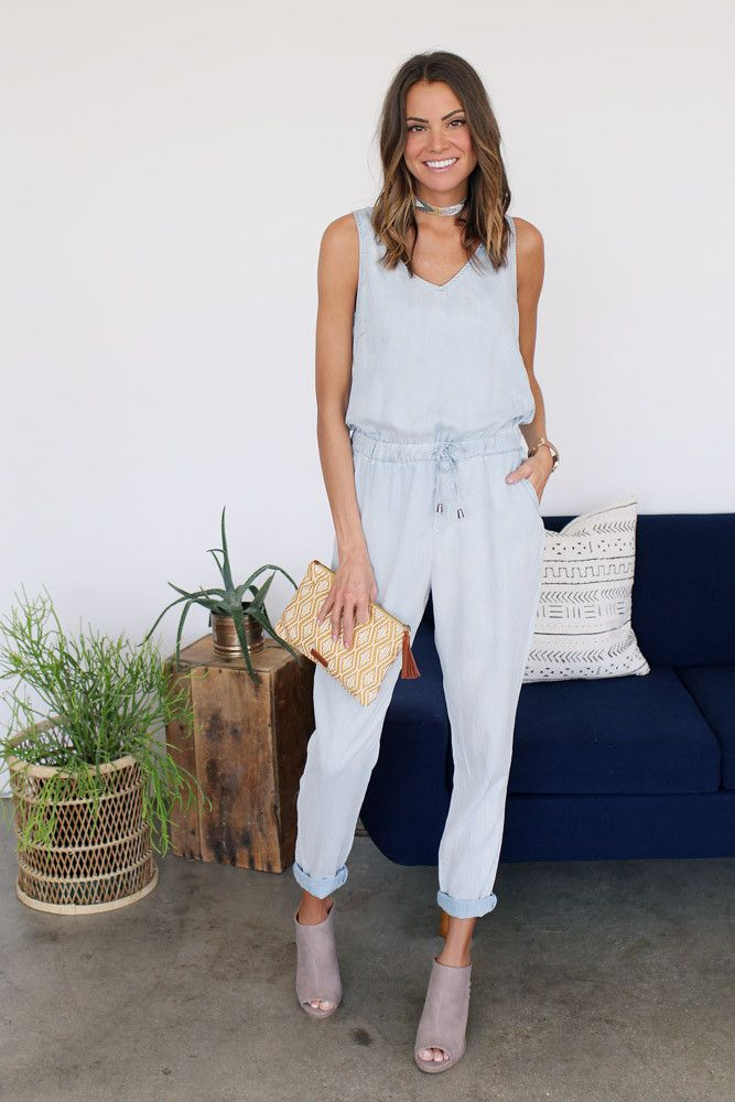 Shake Your Chambray Jumpsuit
