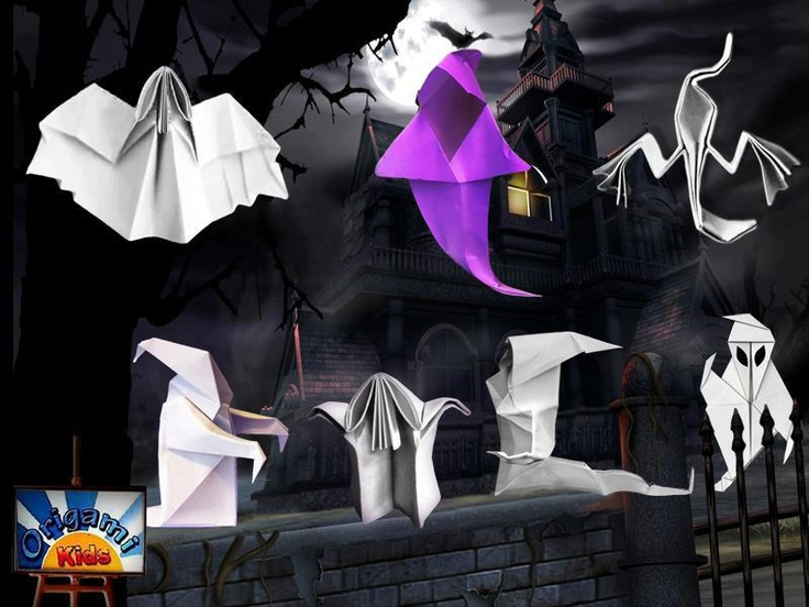 Origami Ghost Party  Join Origami-Kids Facebook Group  More than 4.000 Origami Fan Members  http://www.facebook.com/groups/origamikids/