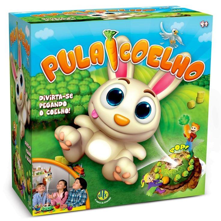 """Esse divertido jogo """"Pula Coelho"""" vai divertir crianças de todas as idades nessa páscoa! Você encontra esse simpático coelho saltitante por R$109,90 na loja Tony Toys do Shop São José. #ShopSãoJosé #PáscoaSSJ"""