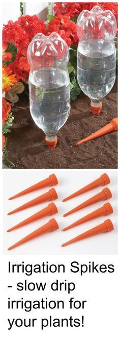 Irrigation spikes - attach these spikes to old soft drink bottles to create an efficient irrigation system for your garden! The slow-drip design delivers water deep into the soil, so your plants stay nourished while you save time watering.