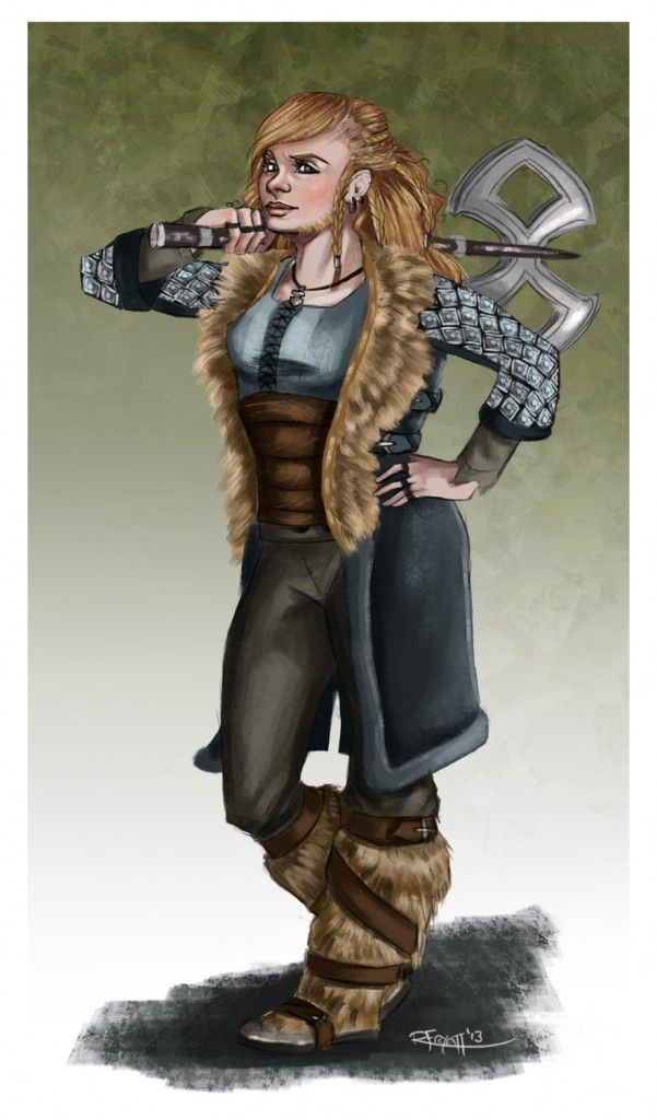dwarf girls hobbit   La Naine sexy, héroïne typique de l'époque Hobbit . (Illutration ...