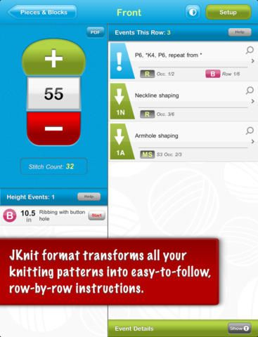 JKnit HD Pro - Knitting Project Master for iPad (ipad)