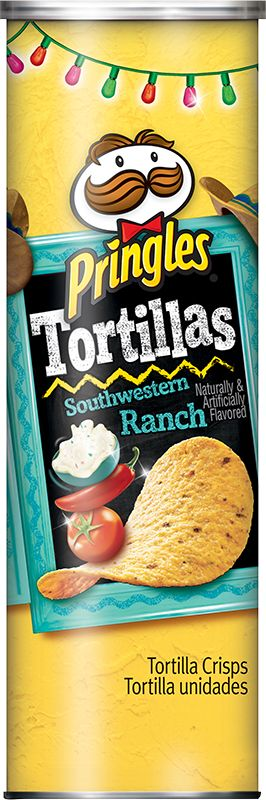 The perfect easy appetizer for any party, Pringles Tortillas Southwestern Ranch crisps are awesomely delicious whether you dip 'em or you don't.