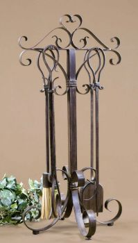 Uttermost Daymeion Metal Fireplace Tools, Set/5