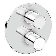 Grohe Grohtherm 3000 Cosmopolitan Thermostat 2-Way Diverter Bath Shower Trim - 19468000 Medium Image