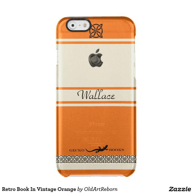 Retro Book In Vintage Orange Clear iPhone 6/6S Case