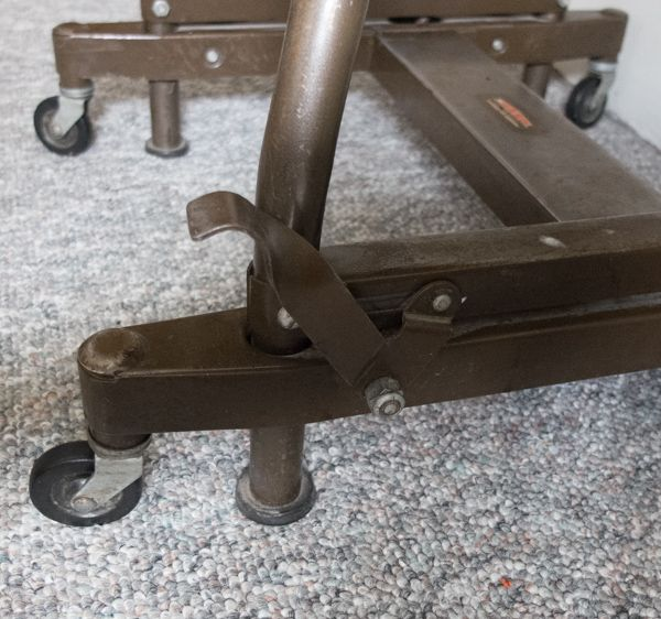 Sold Steampunk Typing Table Has Wheels And Feet