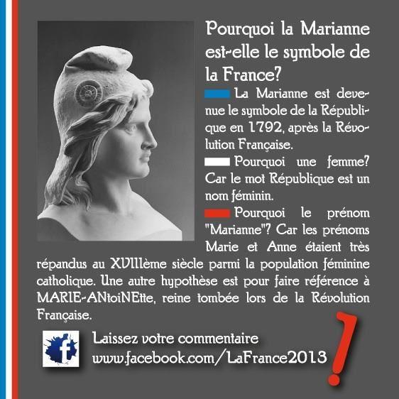 Pourquoi Marianne est le symbole de la France ?