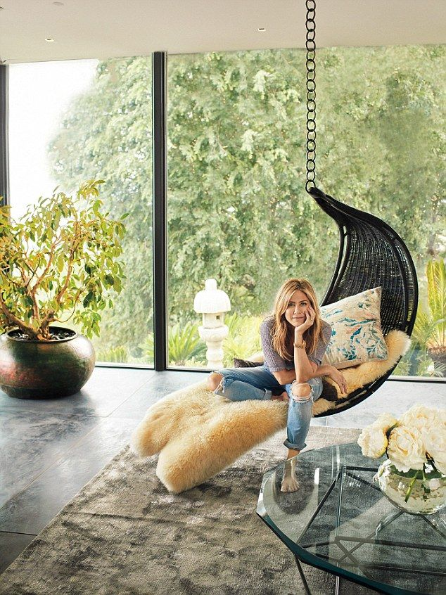 'There's nowhere else I want to be': Jennifer Aniston has opened the doors to the stunning...