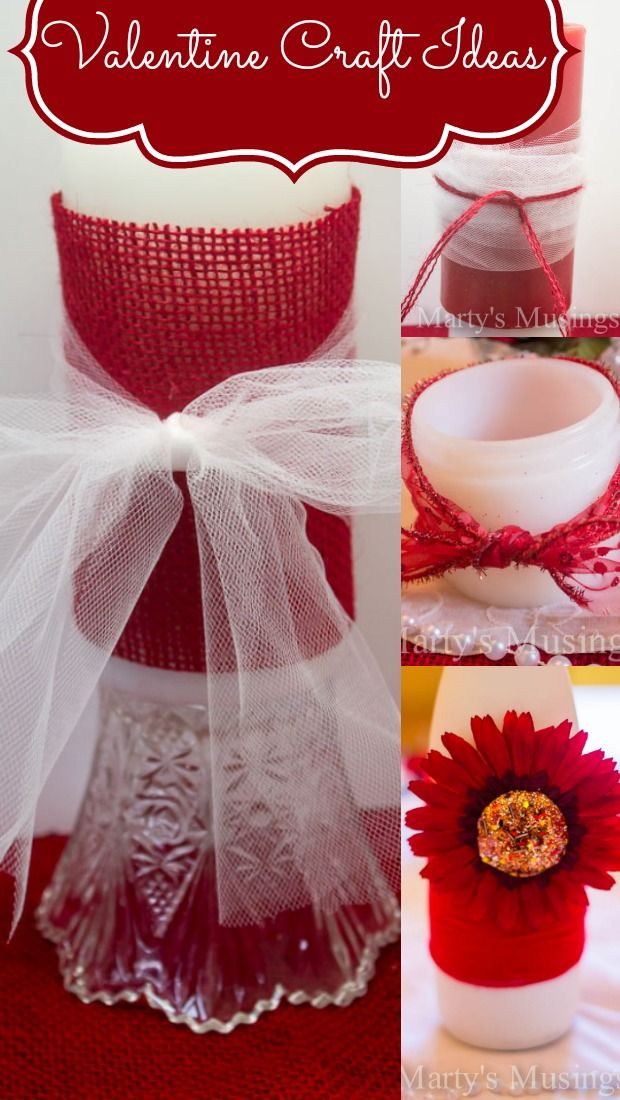 I know its Valentines...but it would work for a wedding idea. Valentine Craft Ideas from Marty's Musings